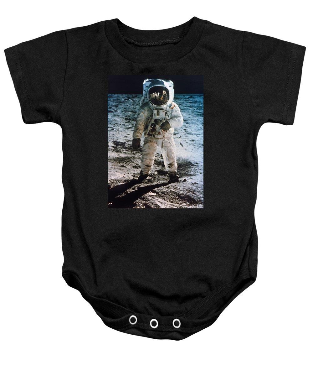 1969 Baby Onesie featuring the photograph Apollo 11 Buzz Aldrin by Granger