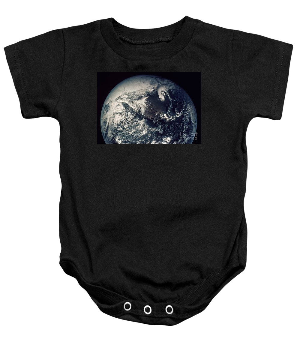 1970s Baby Onesie featuring the photograph Apollo 16: Earth by Granger