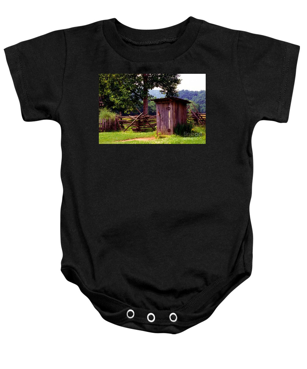 Outhouse Baby Onesie featuring the photograph Appalachian Hill-ton by Paul W Faust - Impressions of Light