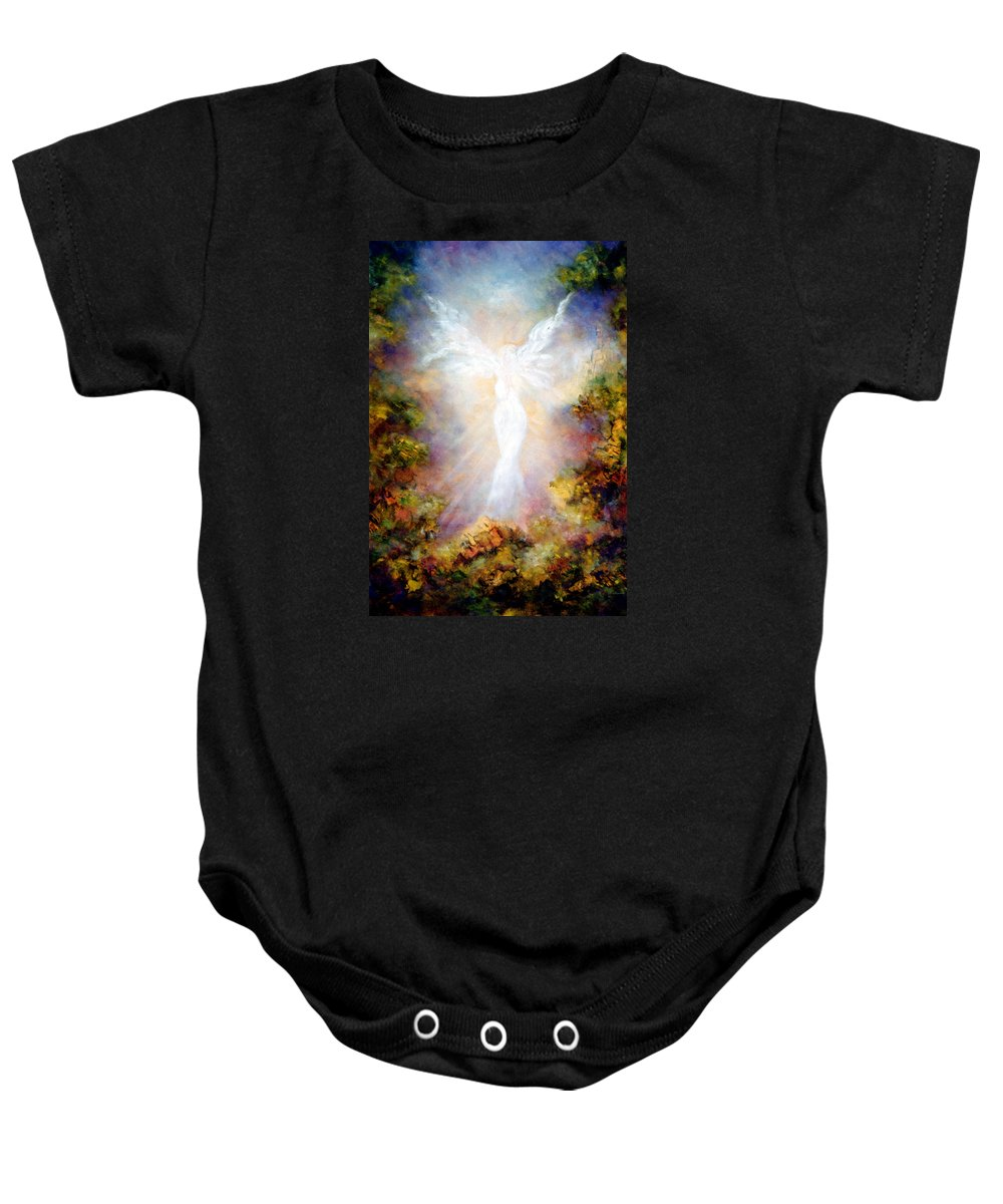 Angel Baby Onesie featuring the painting Apparition II by Marina Petro