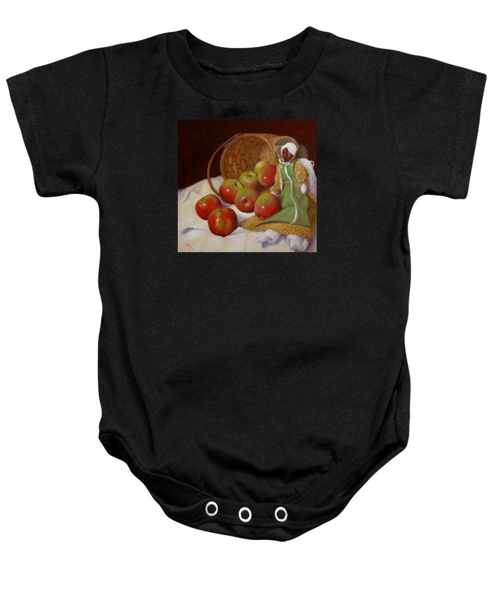Realism Baby Onesie featuring the painting Apple Annie by Donelli DiMaria