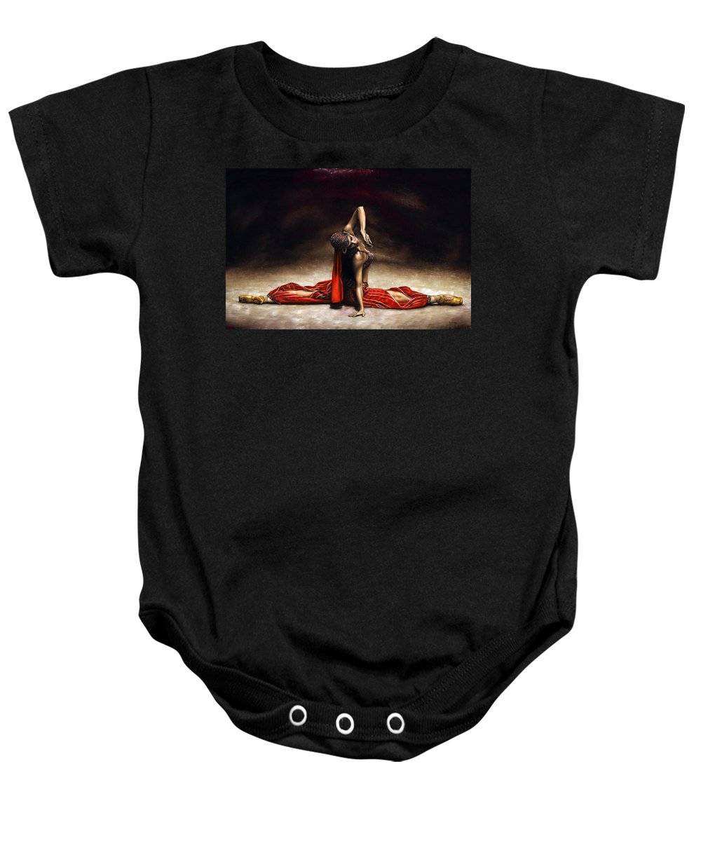 Ballerina Baby Onesie featuring the painting Arabian Coffee by Richard Young