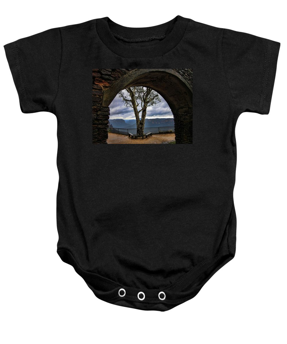 Tree Baby Onesie featuring the photograph Arch Tree by Douglas Barnard