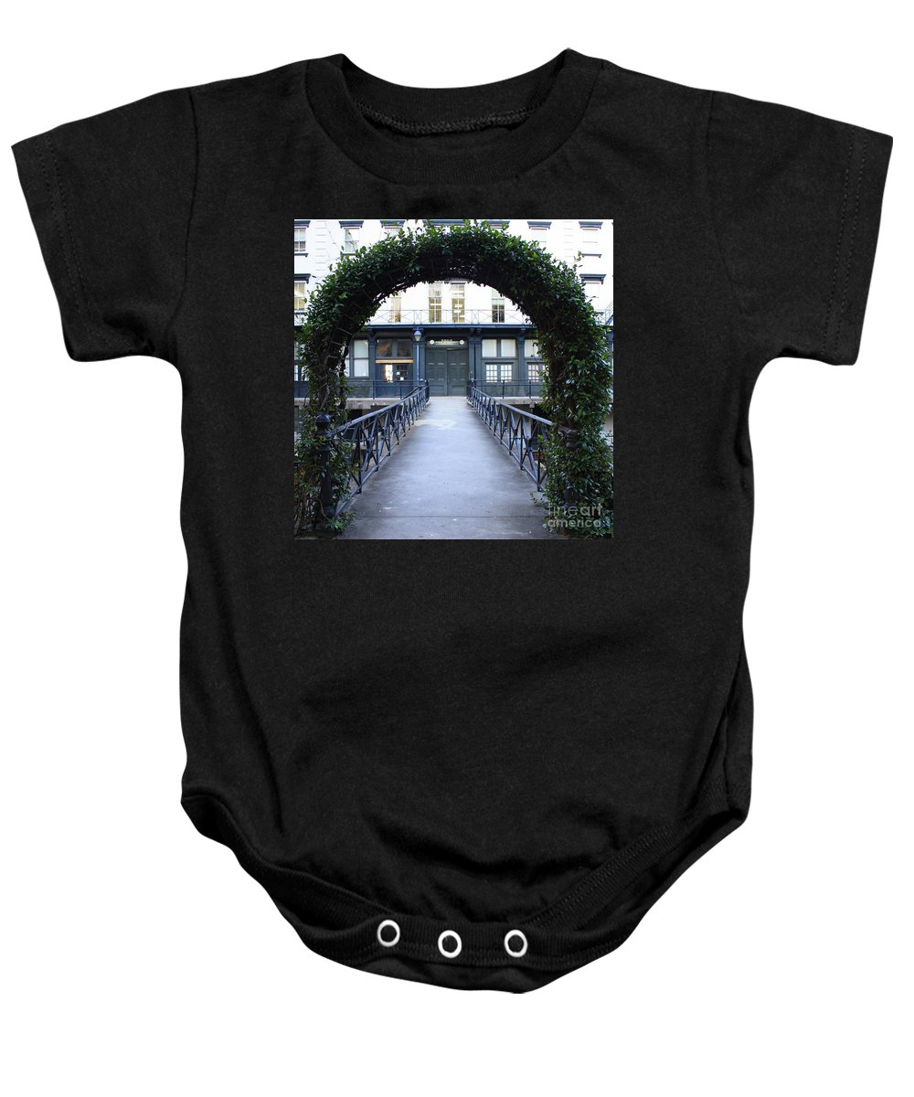 Savannah Baby Onesie featuring the photograph Archway On Factors Walk by Carol Groenen