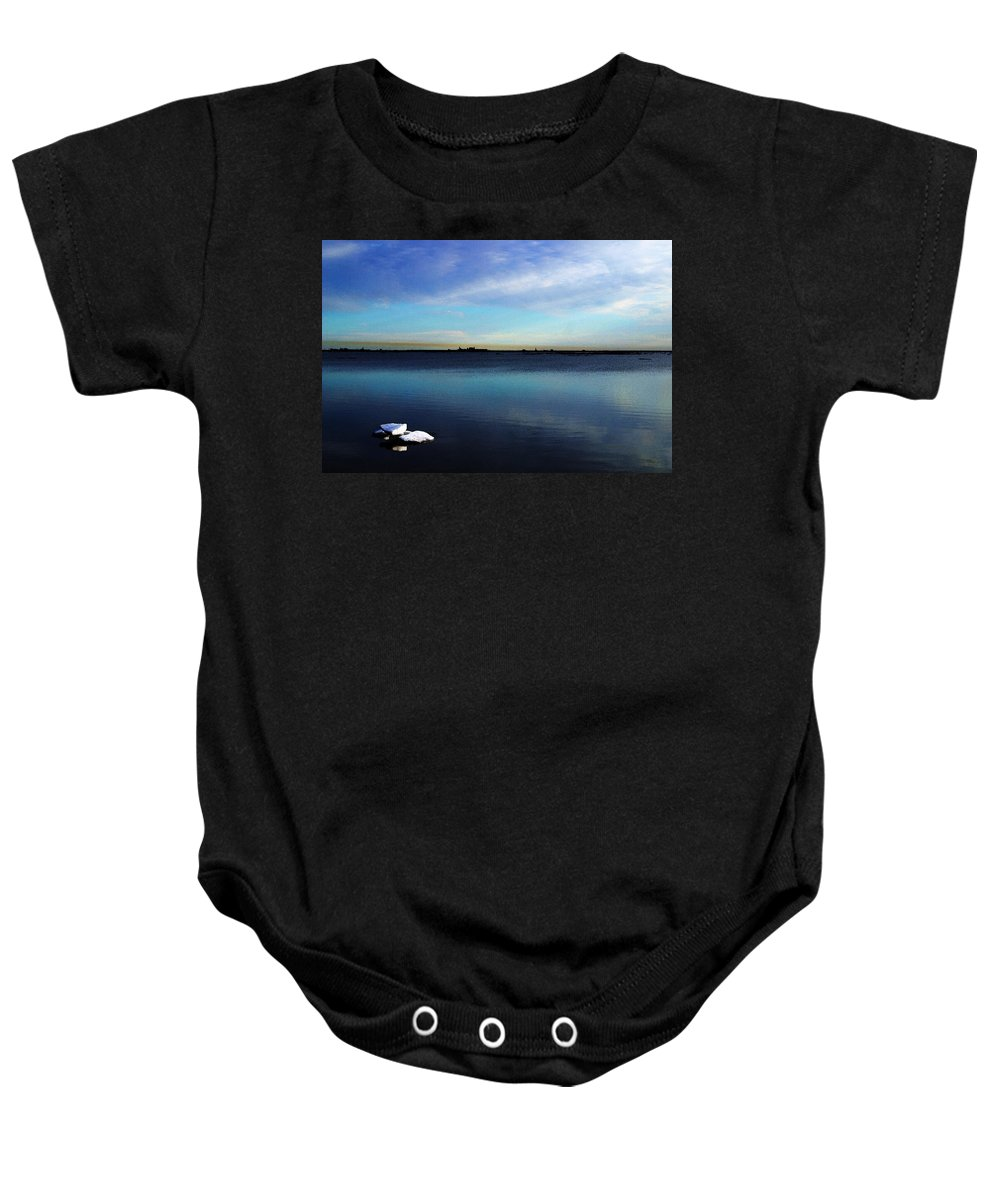 Digital Art Baby Onesie featuring the digital art Arctic Ice by Anthony Jones