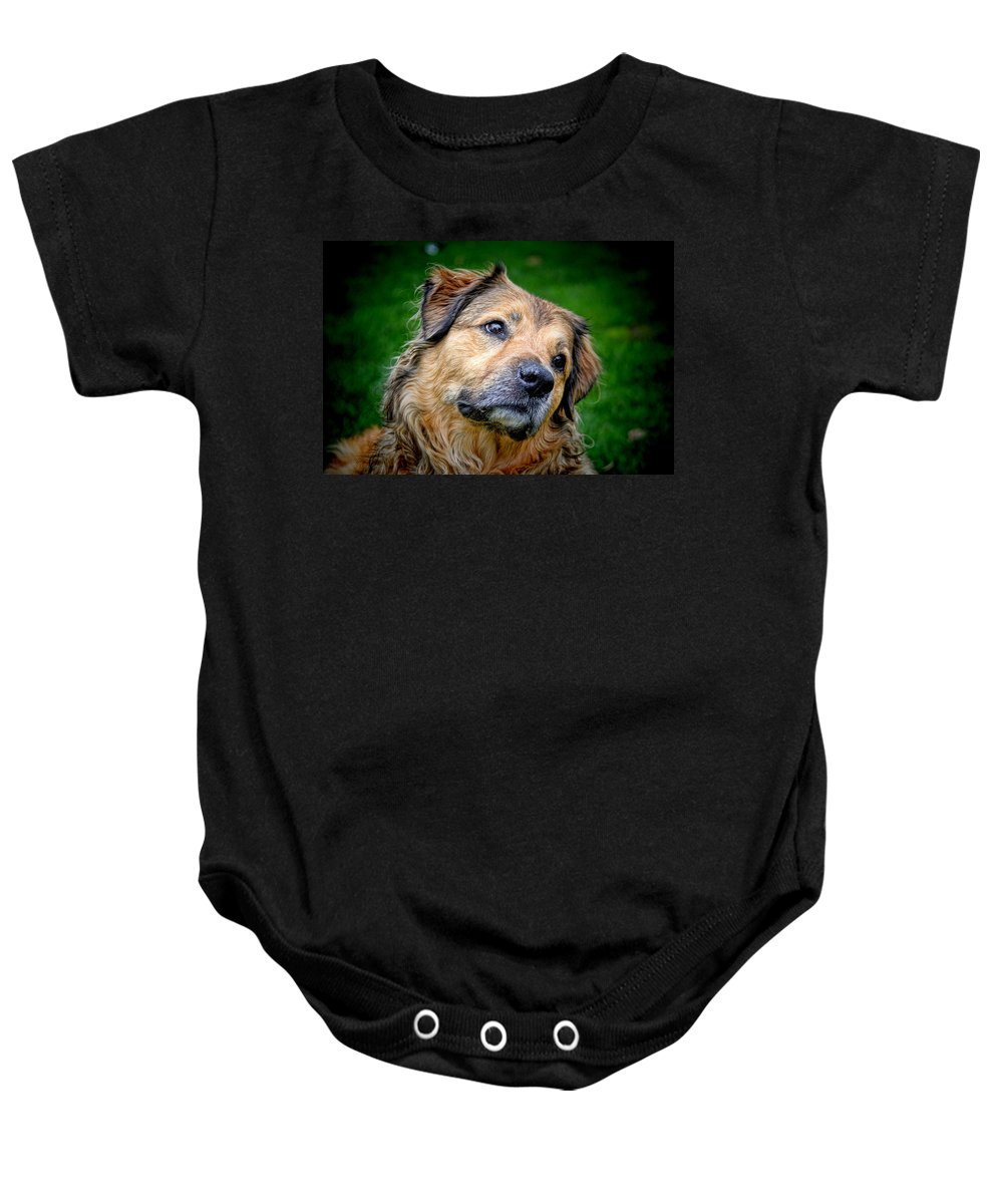 Are You Sure About That Baby Onesie featuring the photograph Are You Sure About That by Mariola Bitner