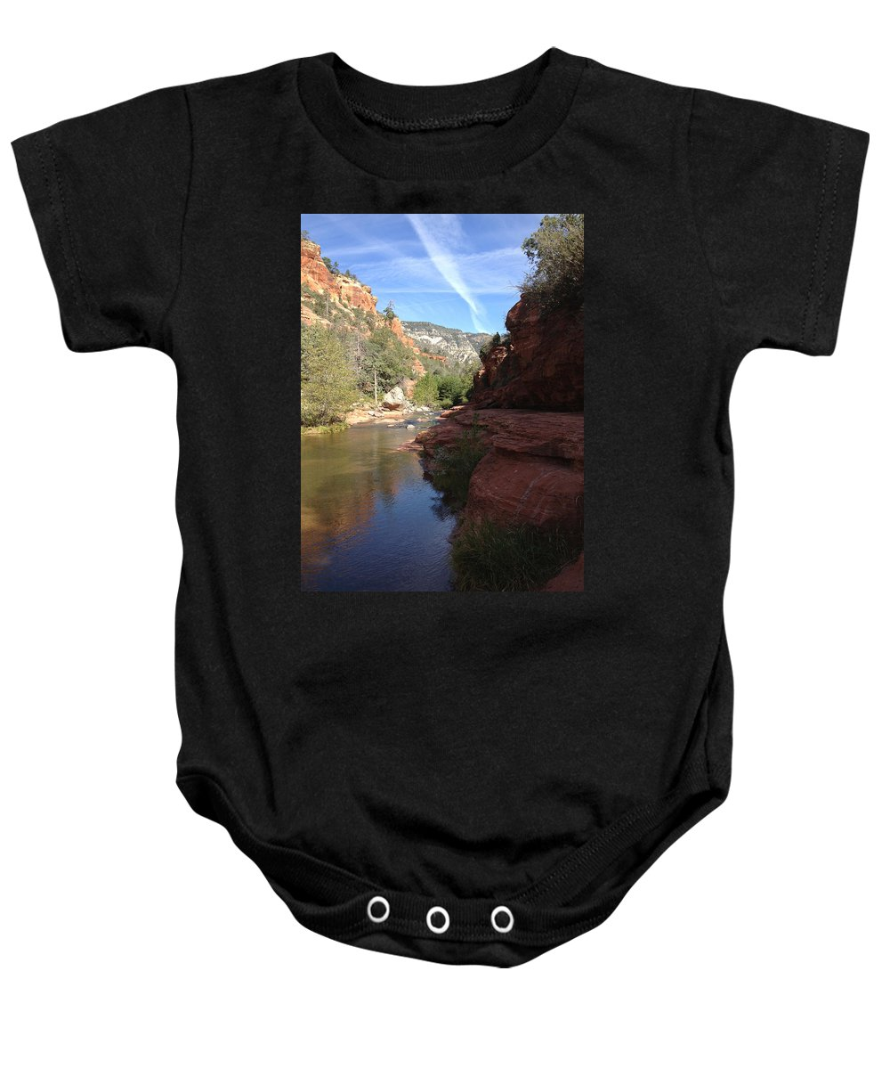 Arizona Baby Onesie featuring the photograph Arizona Canyon Sky Two by Christine Oleson