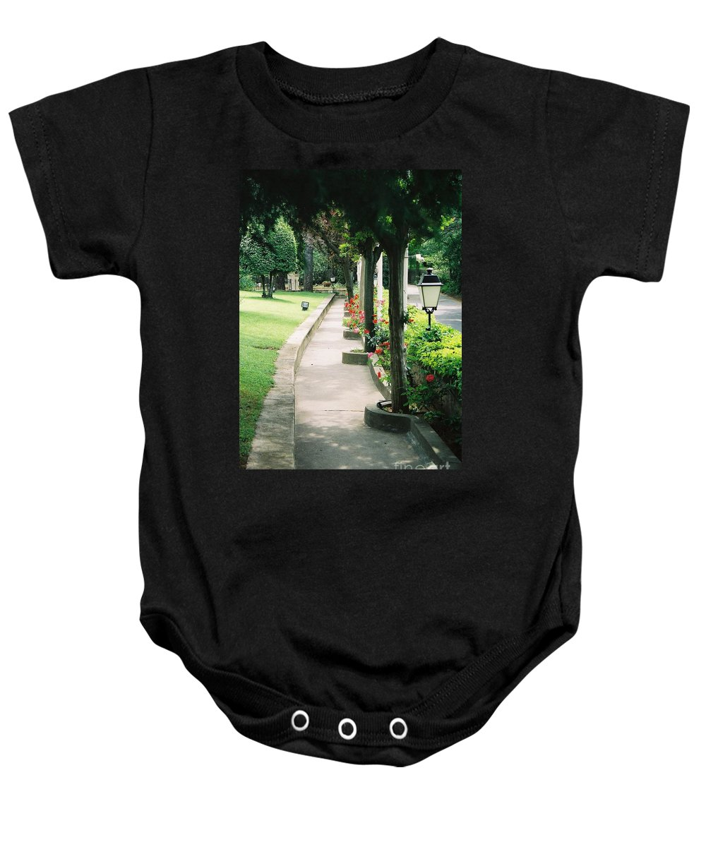 Arles Baby Onesie featuring the photograph Arles Walkway by Nadine Rippelmeyer