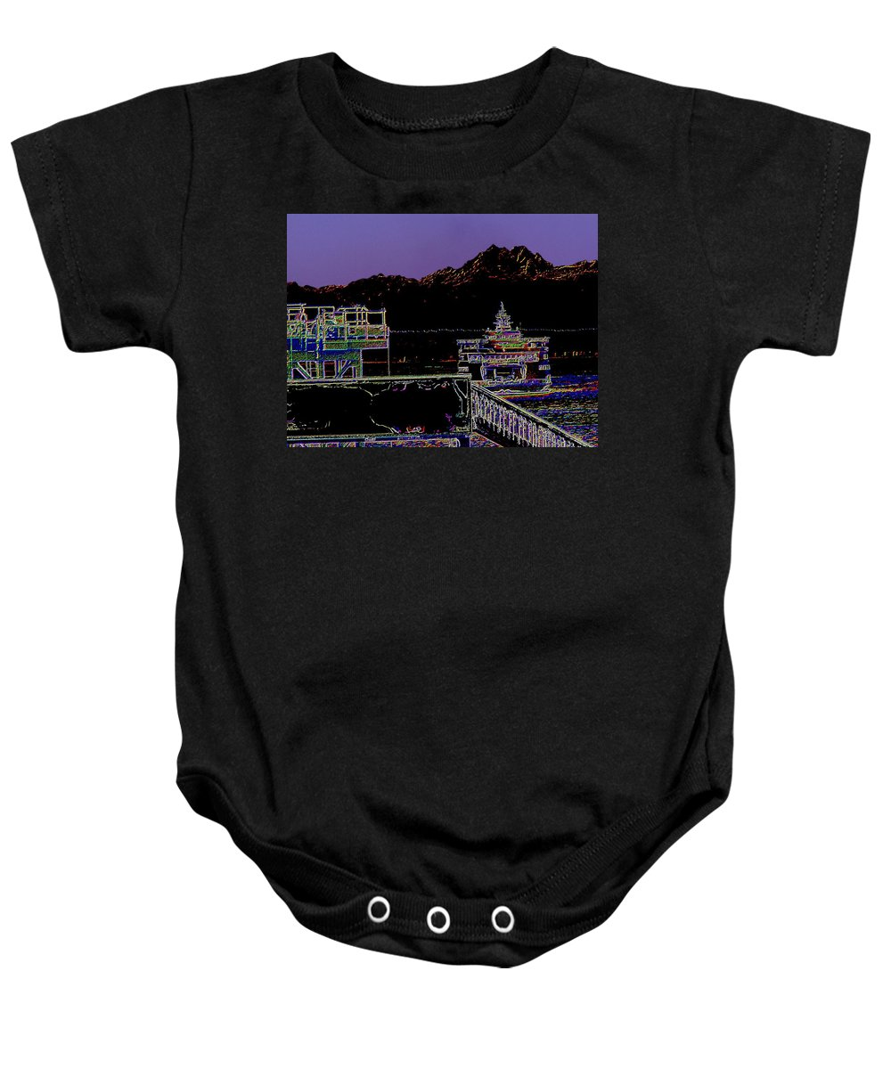 Seattle Baby Onesie featuring the photograph Arrival by Tim Allen