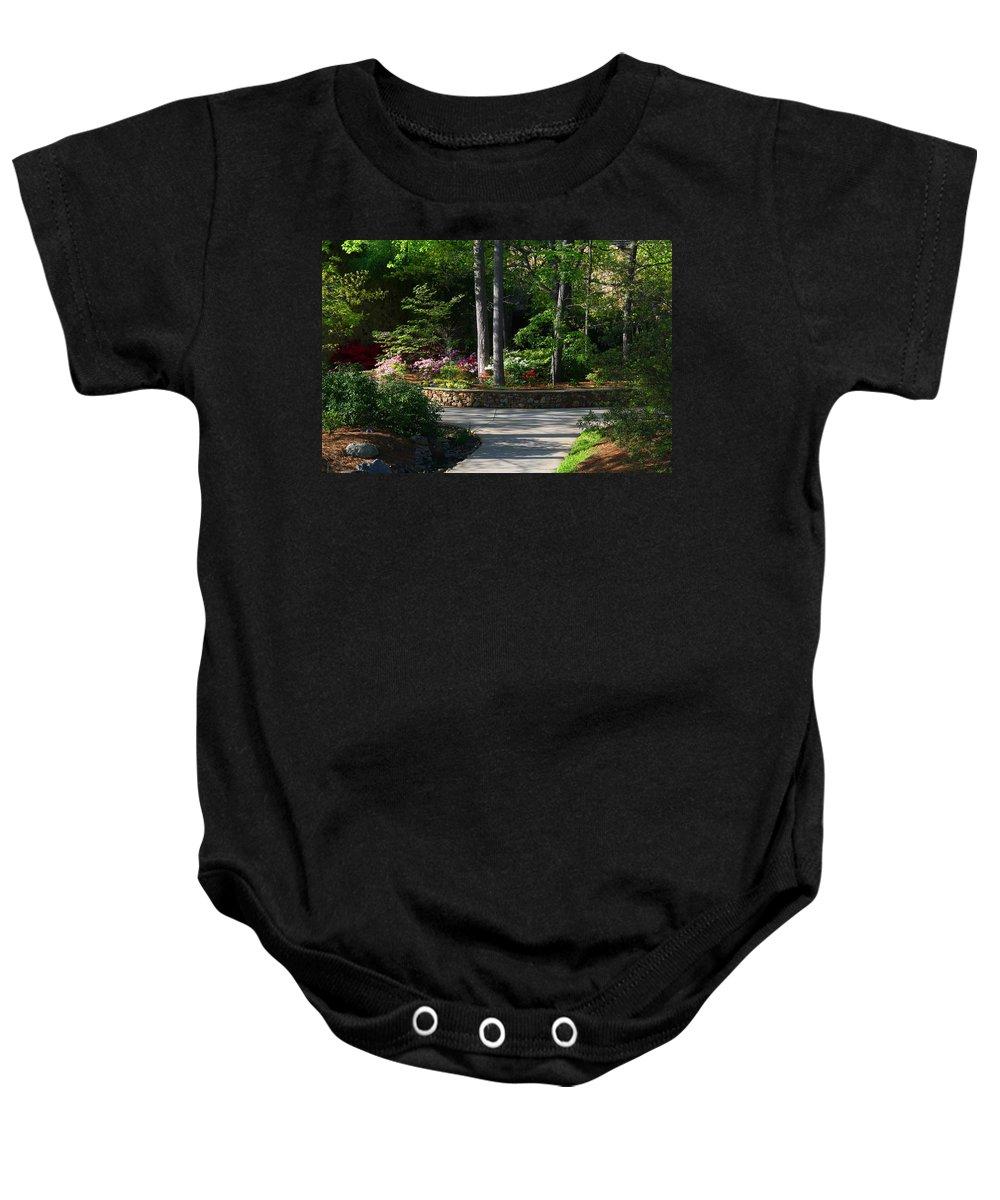 Garden Baby Onesie featuring the photograph Art Center Garden 1 by Kathryn Meyer
