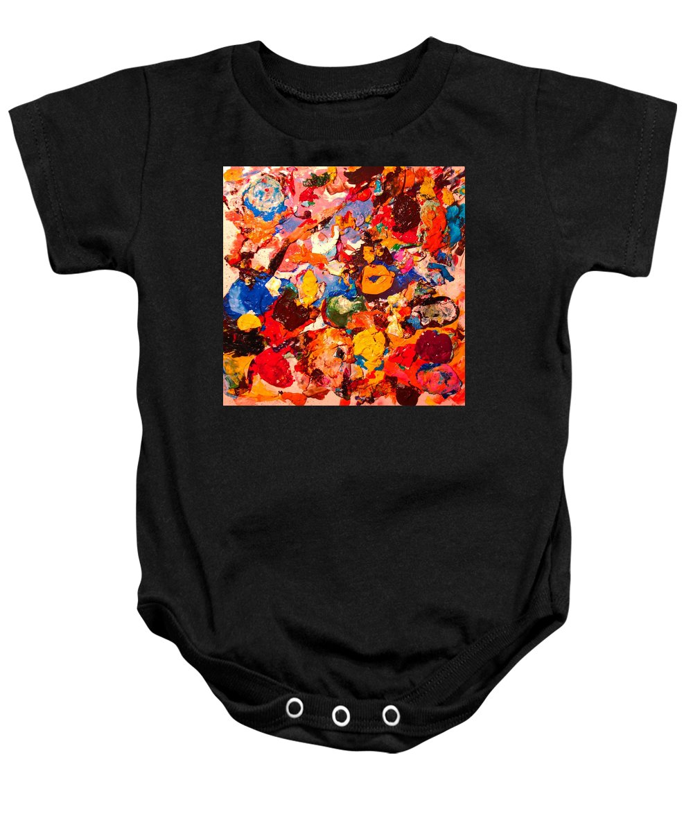 Artist Palette Baby Onesie featuring the painting Artist Palette by Natalie Holland