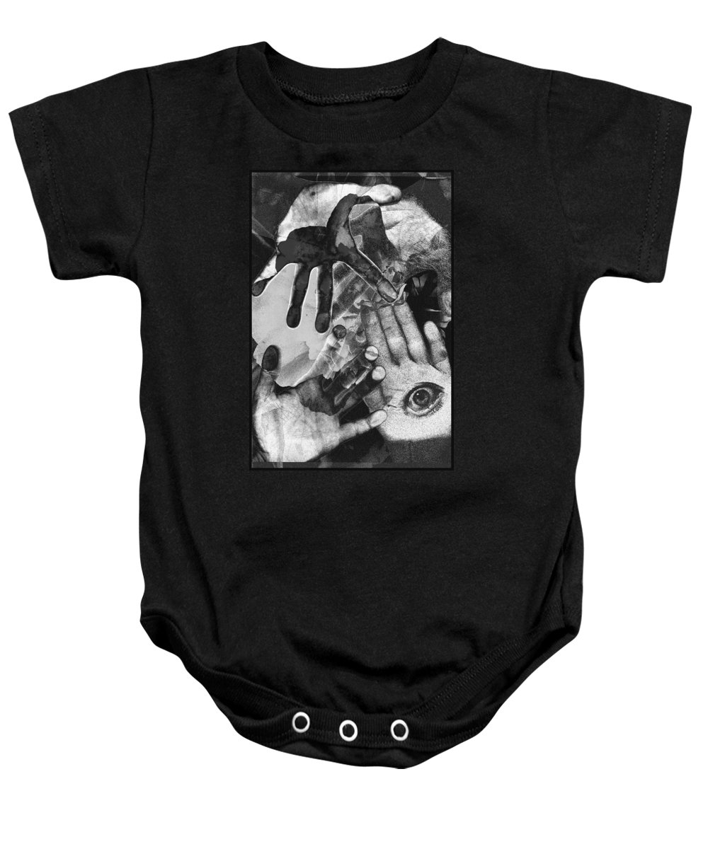 Hands Baby Onesie featuring the photograph Artist's Hands by Nancy Mueller