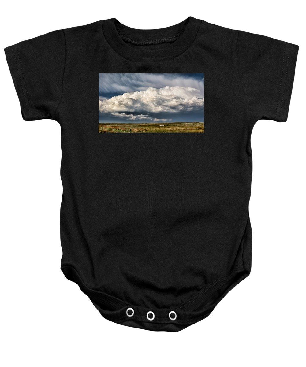 Bill Kesler Photography Baby Onesie featuring the photograph Thunderhead Breakdown by Bill Kesler