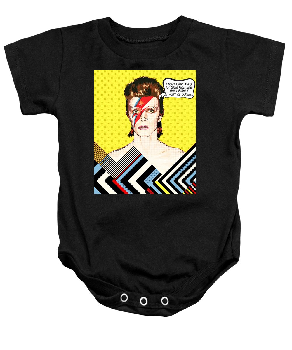 91ec4ddf8 David Bowie Baby Onesie featuring the digital art David Bowie Pop Art by  BONB Creative