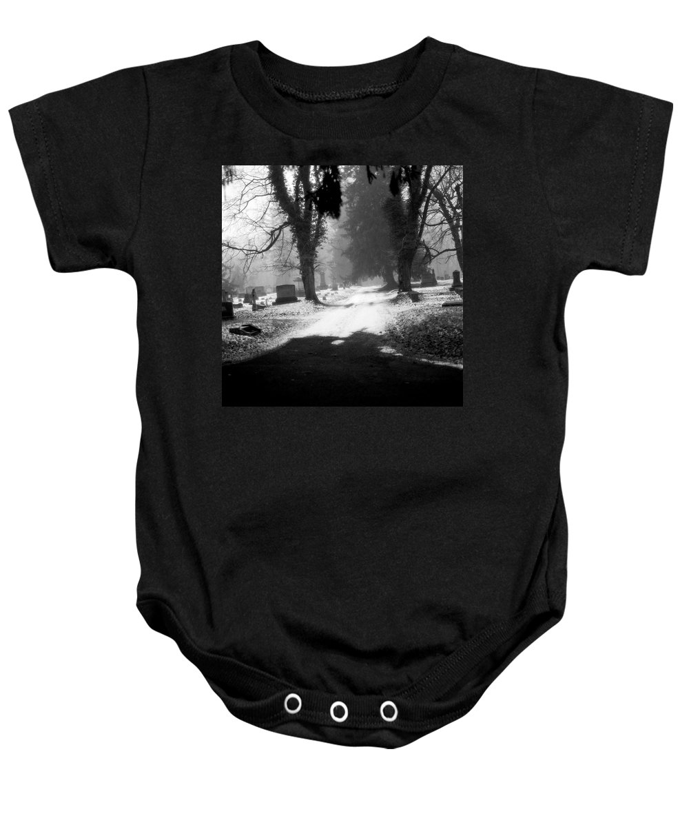 Photograph Baby Onesie featuring the photograph Ashland Cemetery by Jean Macaluso