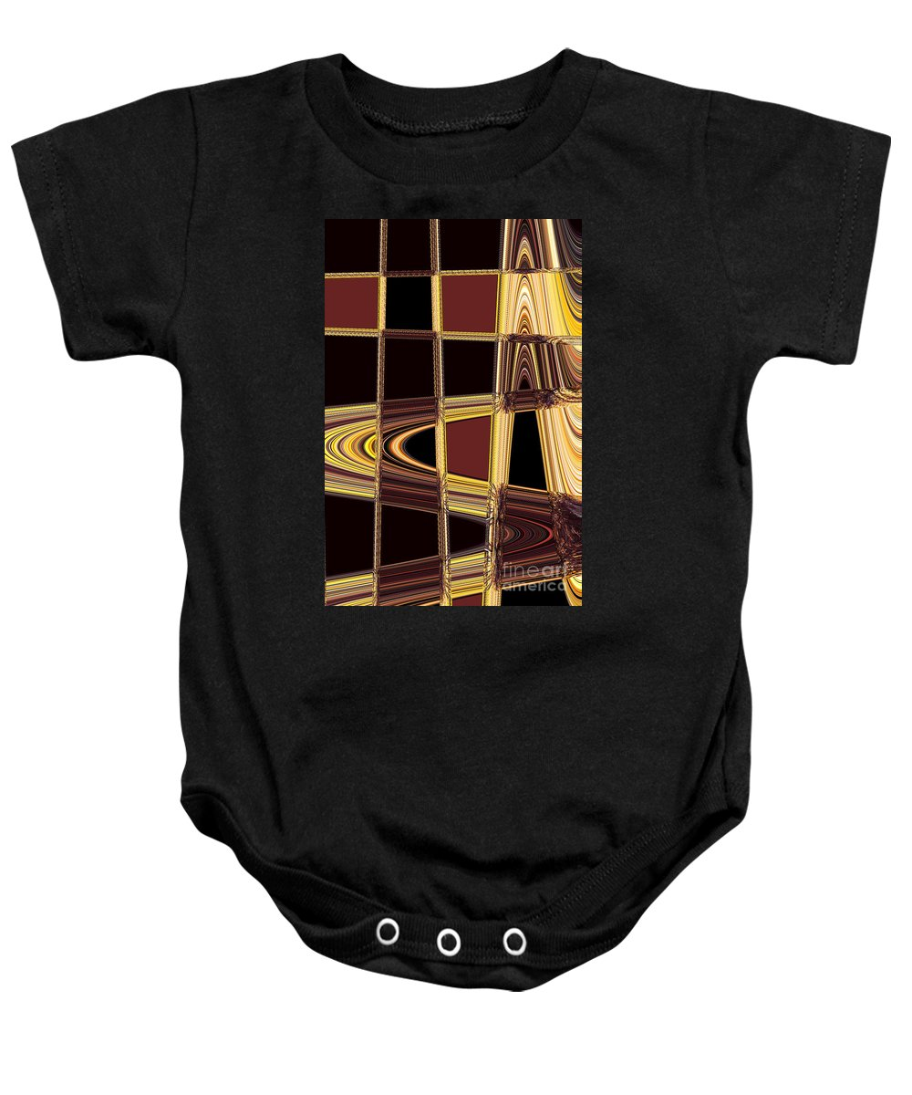 Abstract Baby Onesie featuring the photograph Aspen Grove Abstract by Norman Andrus