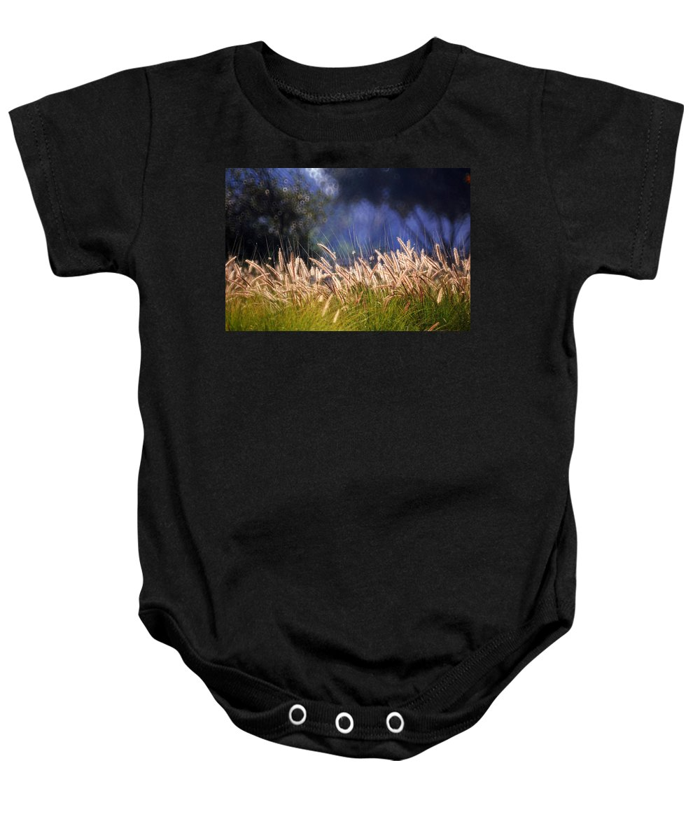 Nature Baby Onesie featuring the photograph At The Rock Garden Tel Aviv by Dubi Roman
