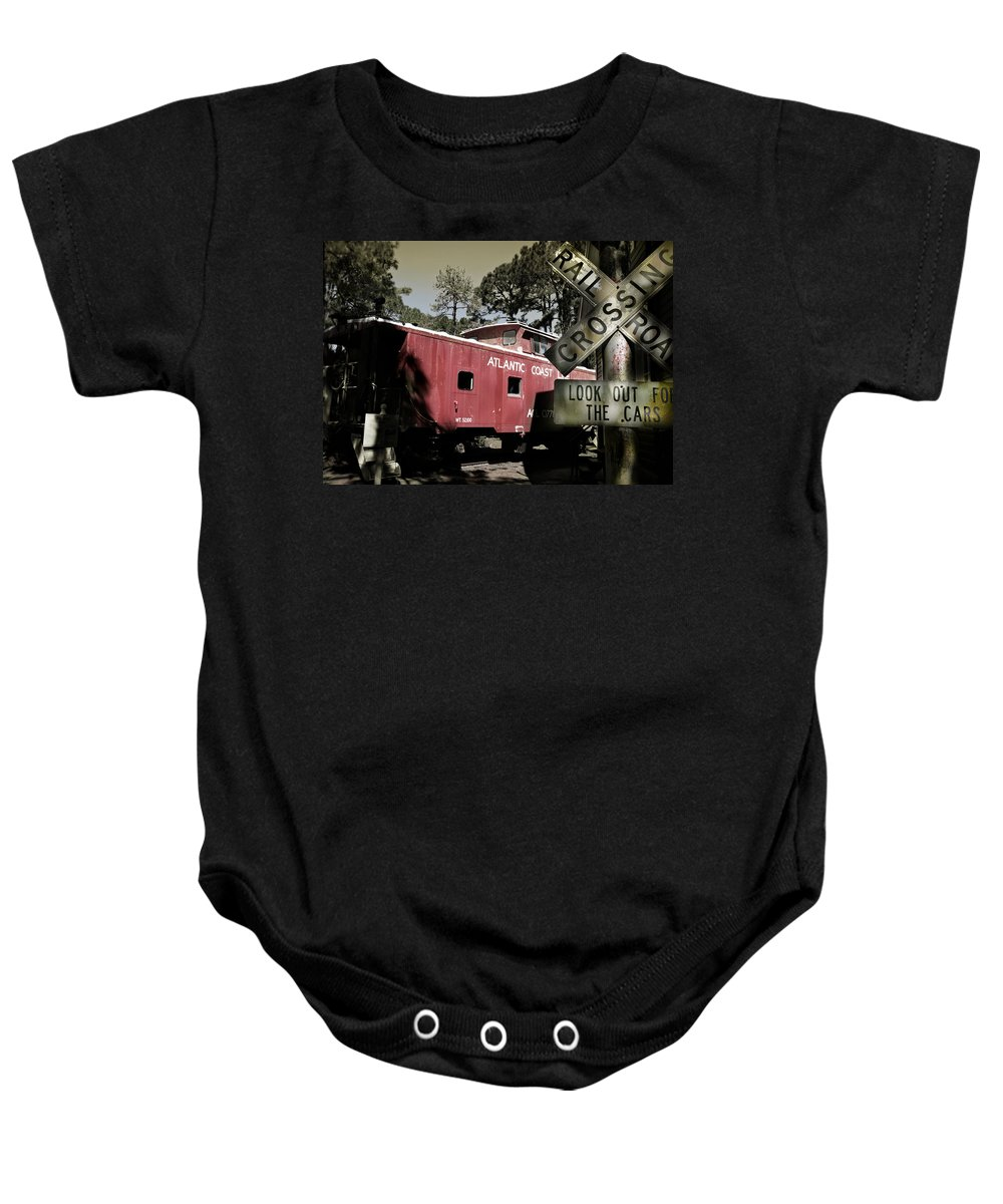 Atlantic Baby Onesie featuring the photograph Atlantic Coast Line Railroad Carriage by Mal Bray