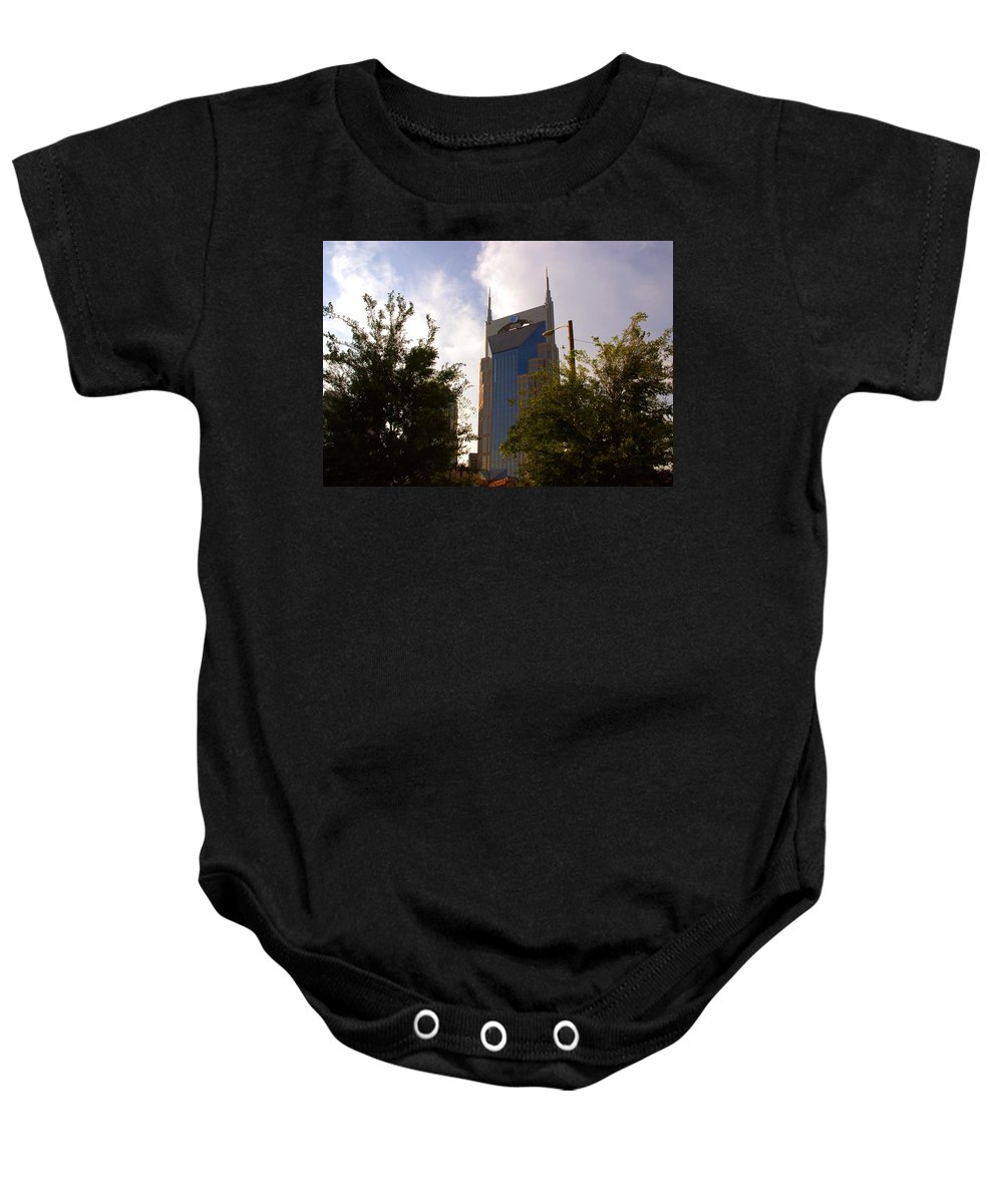 Nashville Baby Onesie featuring the photograph Att And Batman Are The Same by Susanne Van Hulst