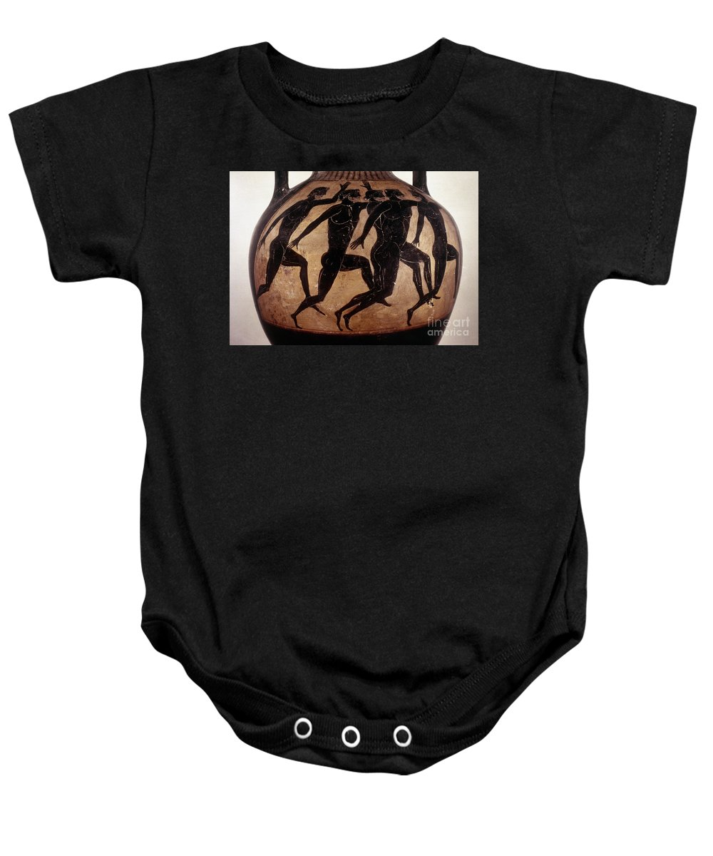 6th Century B.c Baby Onesie featuring the photograph Attic Black-figured Vase by Granger