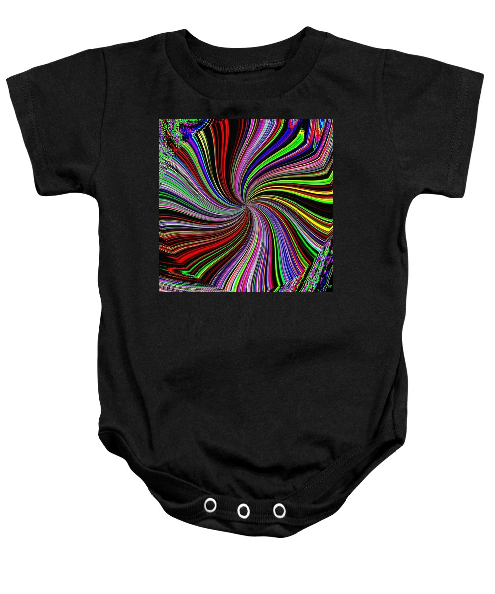 Abstract Baby Onesie featuring the digital art Attitude by Will Borden