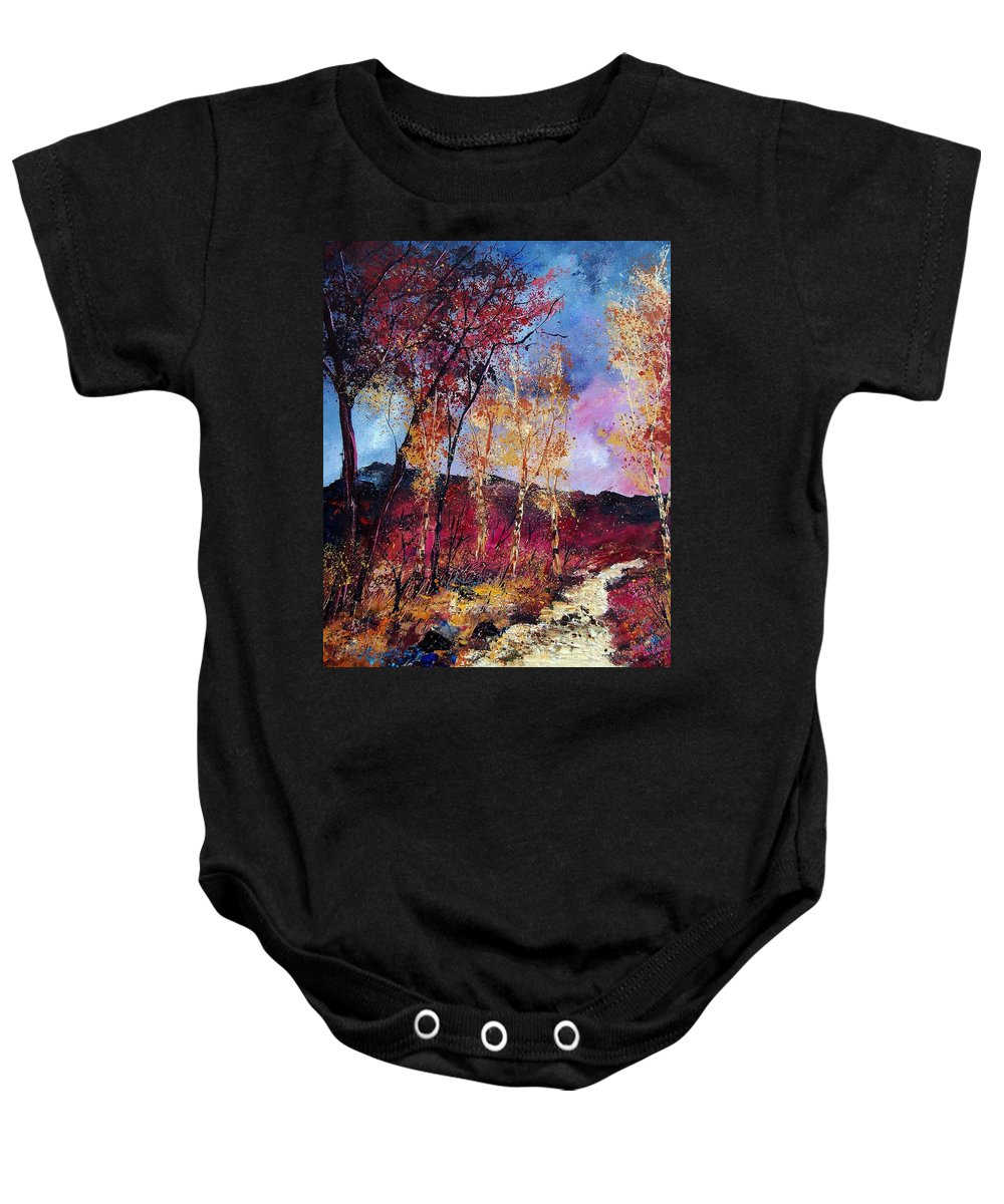 Landscape Baby Onesie featuring the painting Autumn 760808 by Pol Ledent