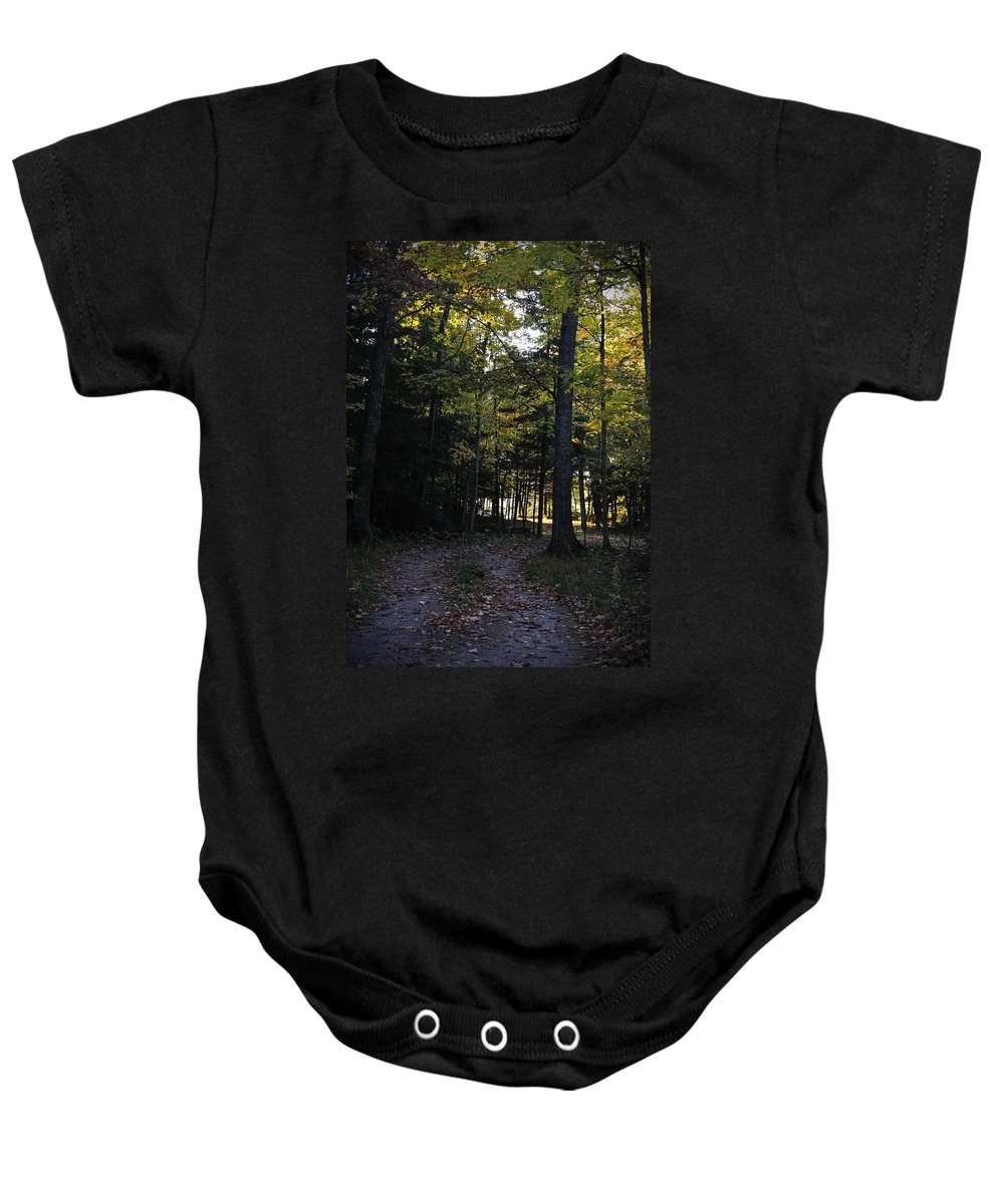 Fall Baby Onesie featuring the photograph Autumn Glen by Tim Nyberg