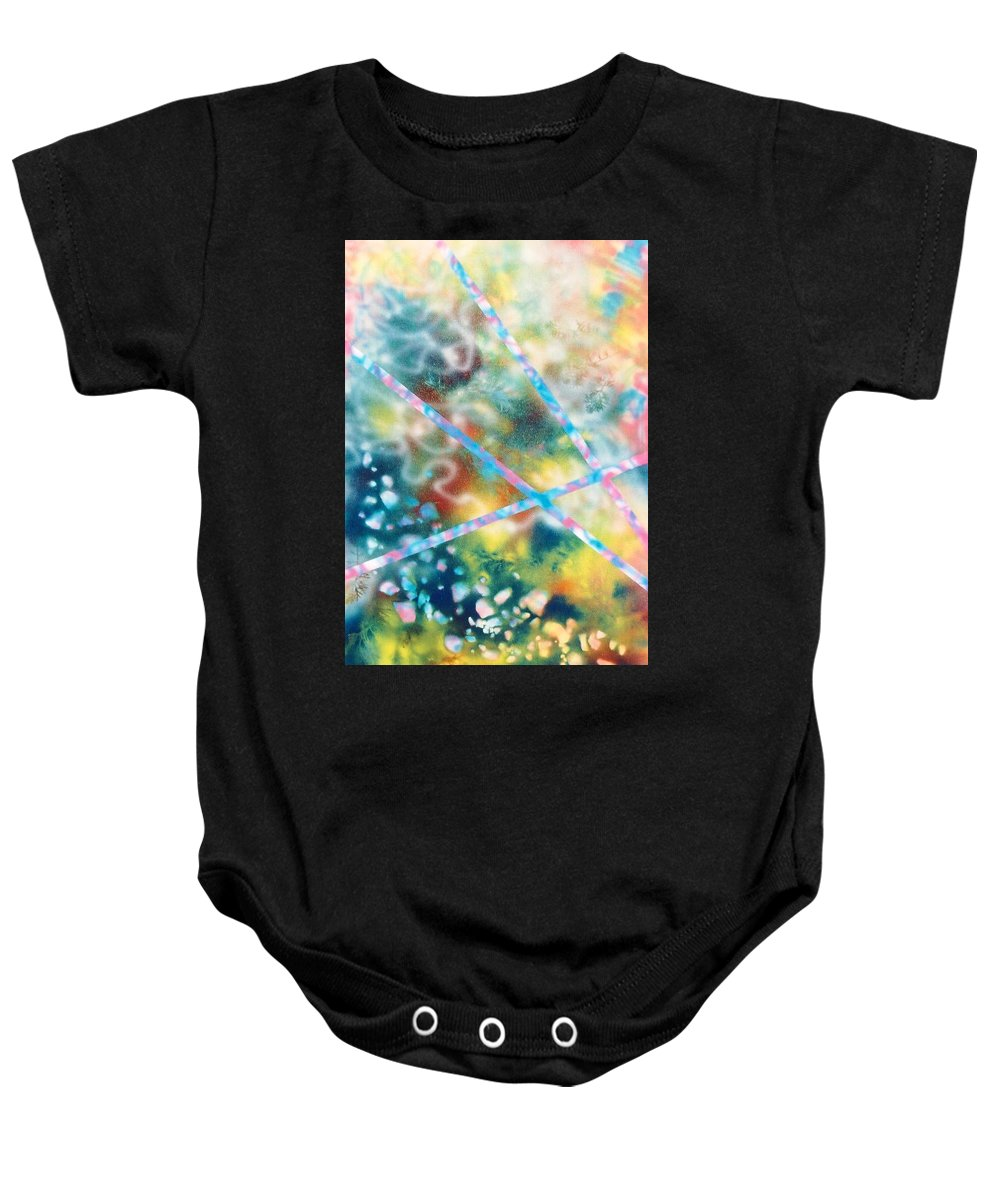 Abstract Baby Onesie featuring the painting Autumn by Micah Guenther
