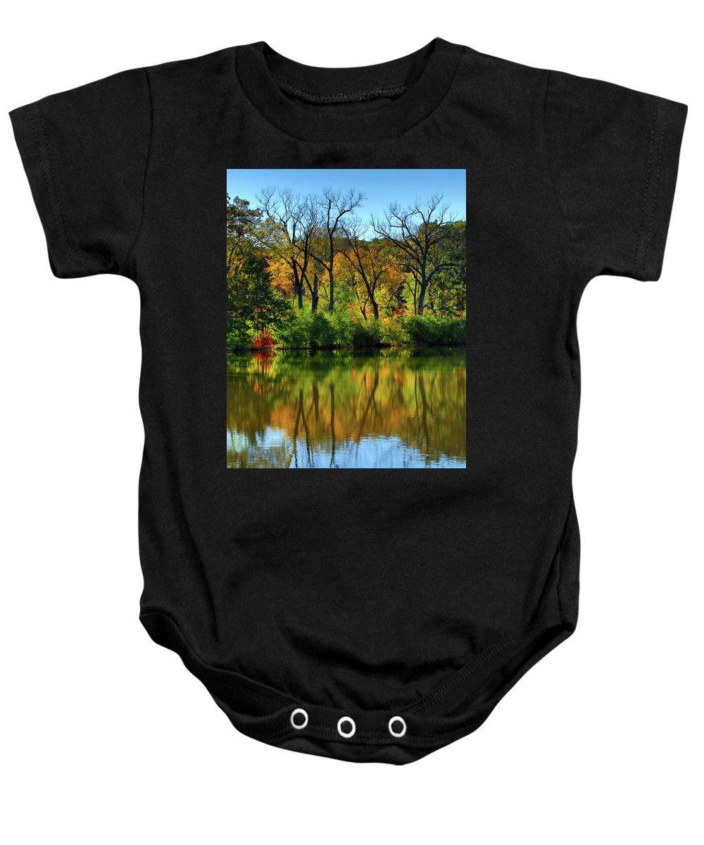 Salt Creek Baby Onesie featuring the photograph Autumn Reflections On Salt Creek IIi by Ira Marcus