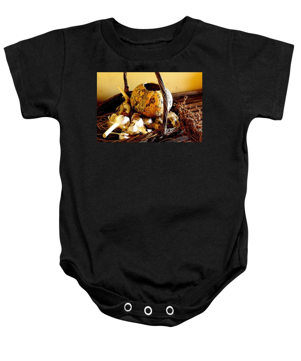 Still Life Baby Onesie featuring the photograph Autumn Still Life by Nelson Strong