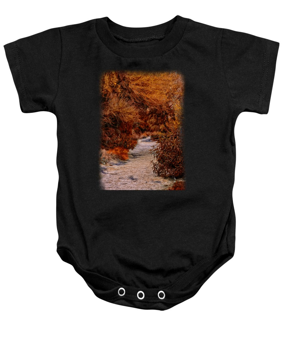Oro Valley Baby Onesie featuring the photograph Autumn Stroll No23 by Mark Myhaver