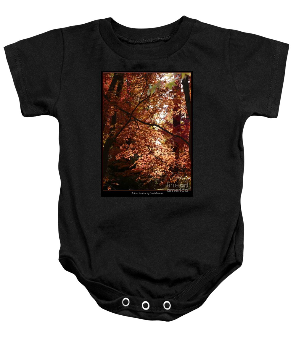 Spokane Baby Onesie featuring the photograph Autumn Sunshine Poster by Carol Groenen