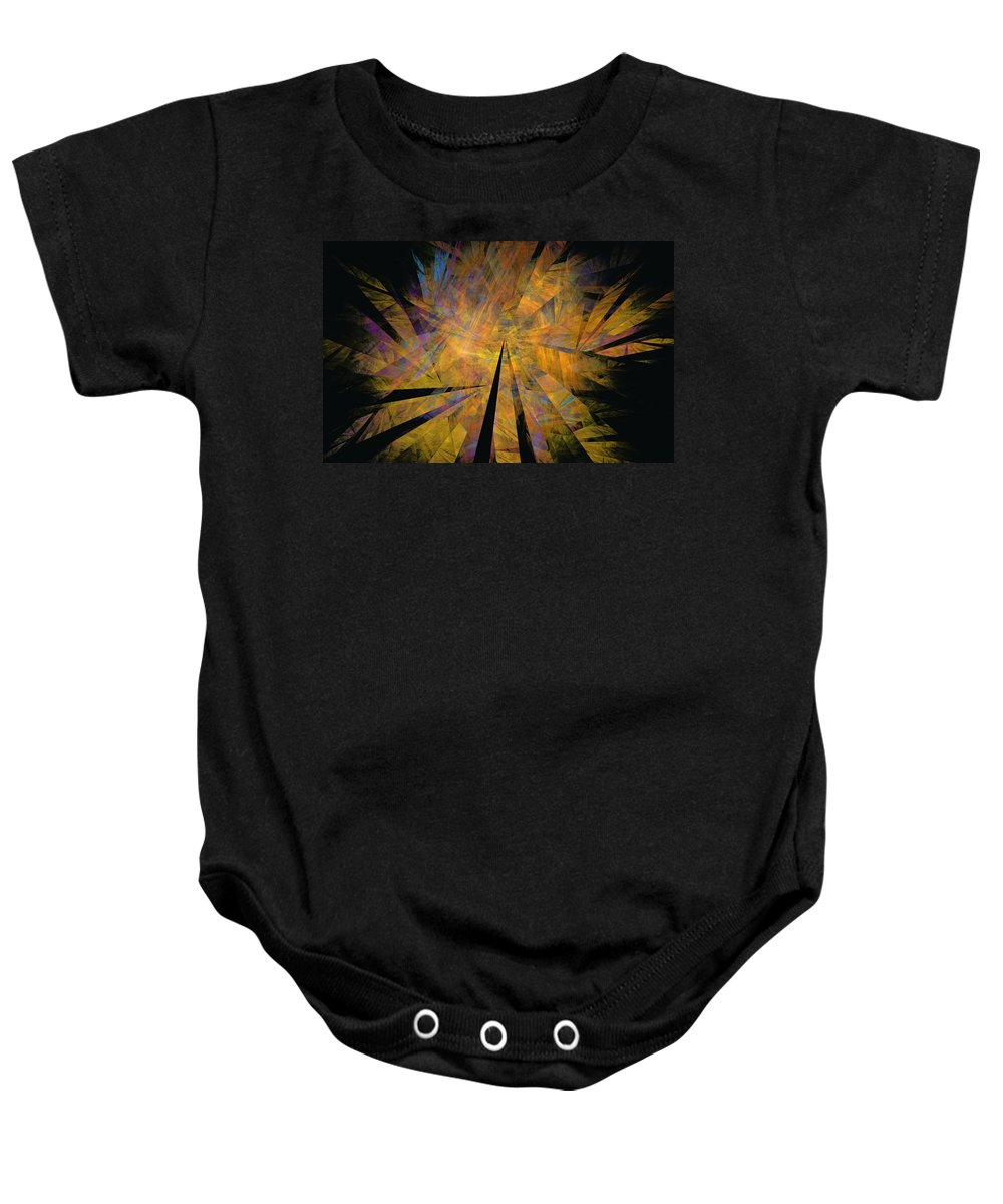 Abstract Expressionism Baby Onesie featuring the digital art Autumnal by David Lane