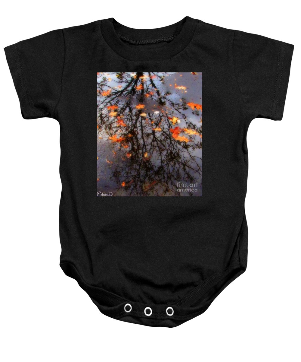 Tree Baby Onesie featuring the photograph Autumns Looking Glass 3 by September Stone