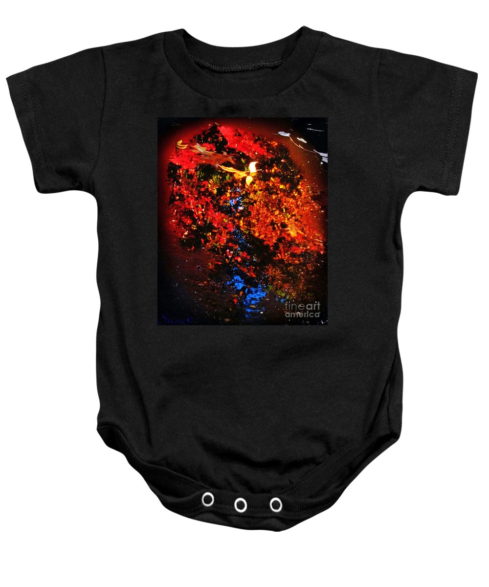 Autumn Baby Onesie featuring the photograph Autumns Looking Glass by September Stone