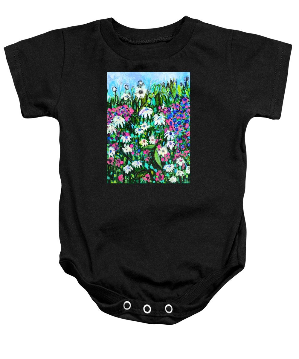 Flowers Baby Onesie featuring the painting Awakening by Jacqueline Kern