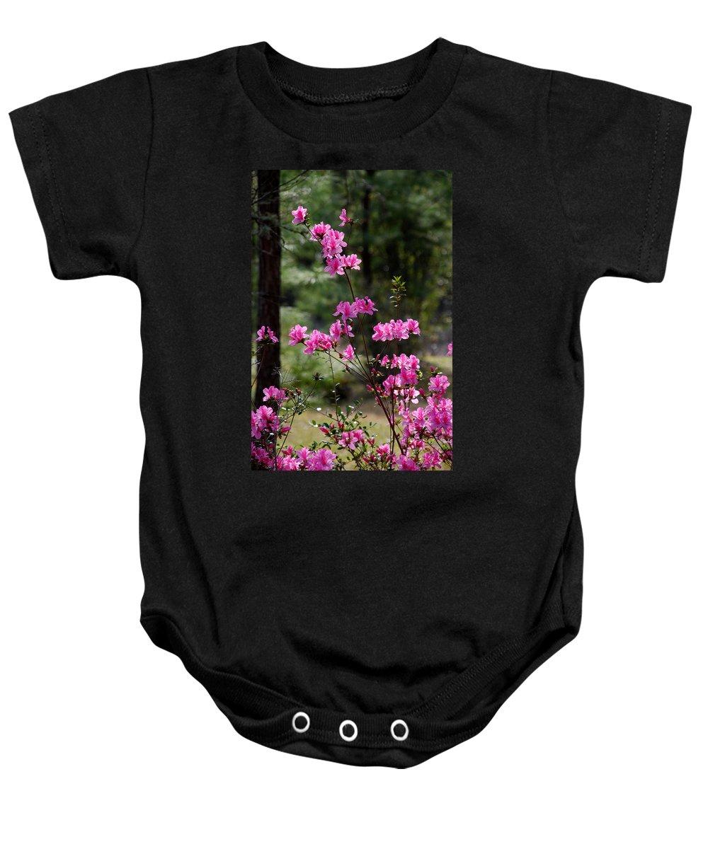 Spring Flower Baby Onesie featuring the photograph Azaleas II by Susanne Van Hulst