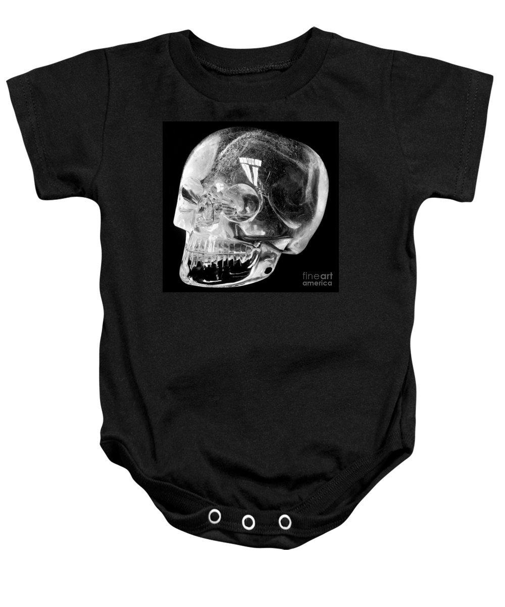 15th Century Baby Onesie featuring the photograph Aztec Rock Crystal Skull by Granger
