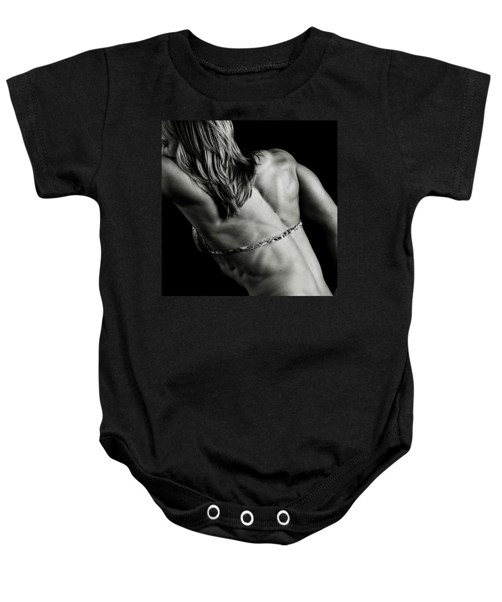 Strength Baby Onesie featuring the photograph Baby Got Back by Monte Arnold