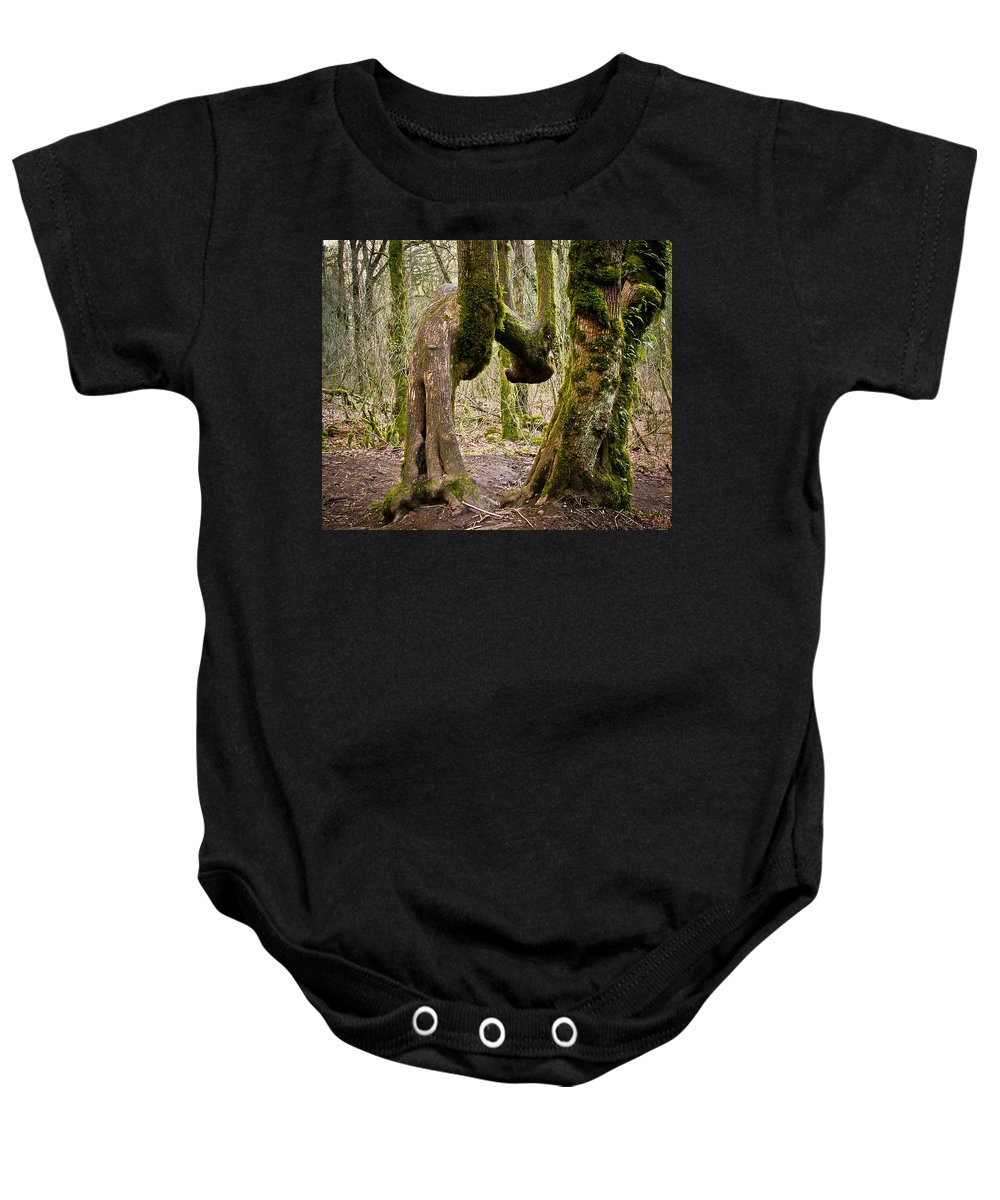 Trees Baby Onesie featuring the photograph Bad Back by Albert Seger