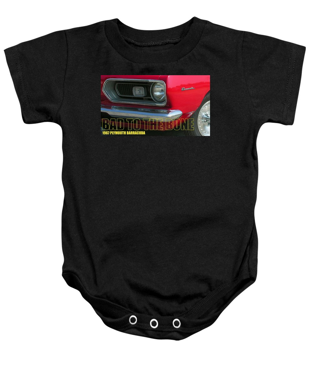 Barracuda Baby Onesie featuring the photograph Bad To The Bone by Richard Rizzo