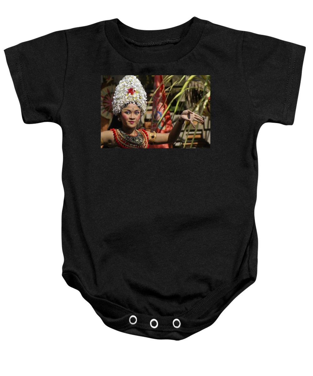 Asia Baby Onesie featuring the photograph Balinese Beauty by Michele Burgess