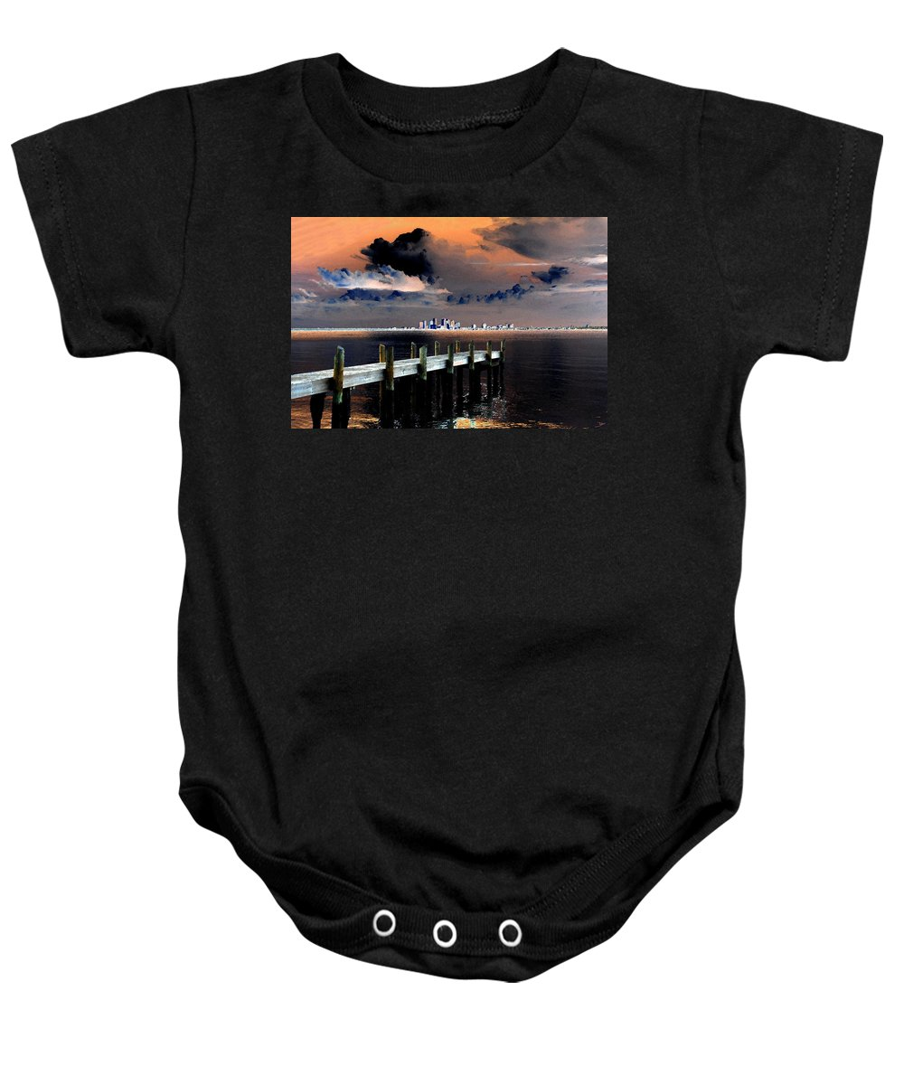 Art Baby Onesie featuring the painting Ballast Point by David Lee Thompson