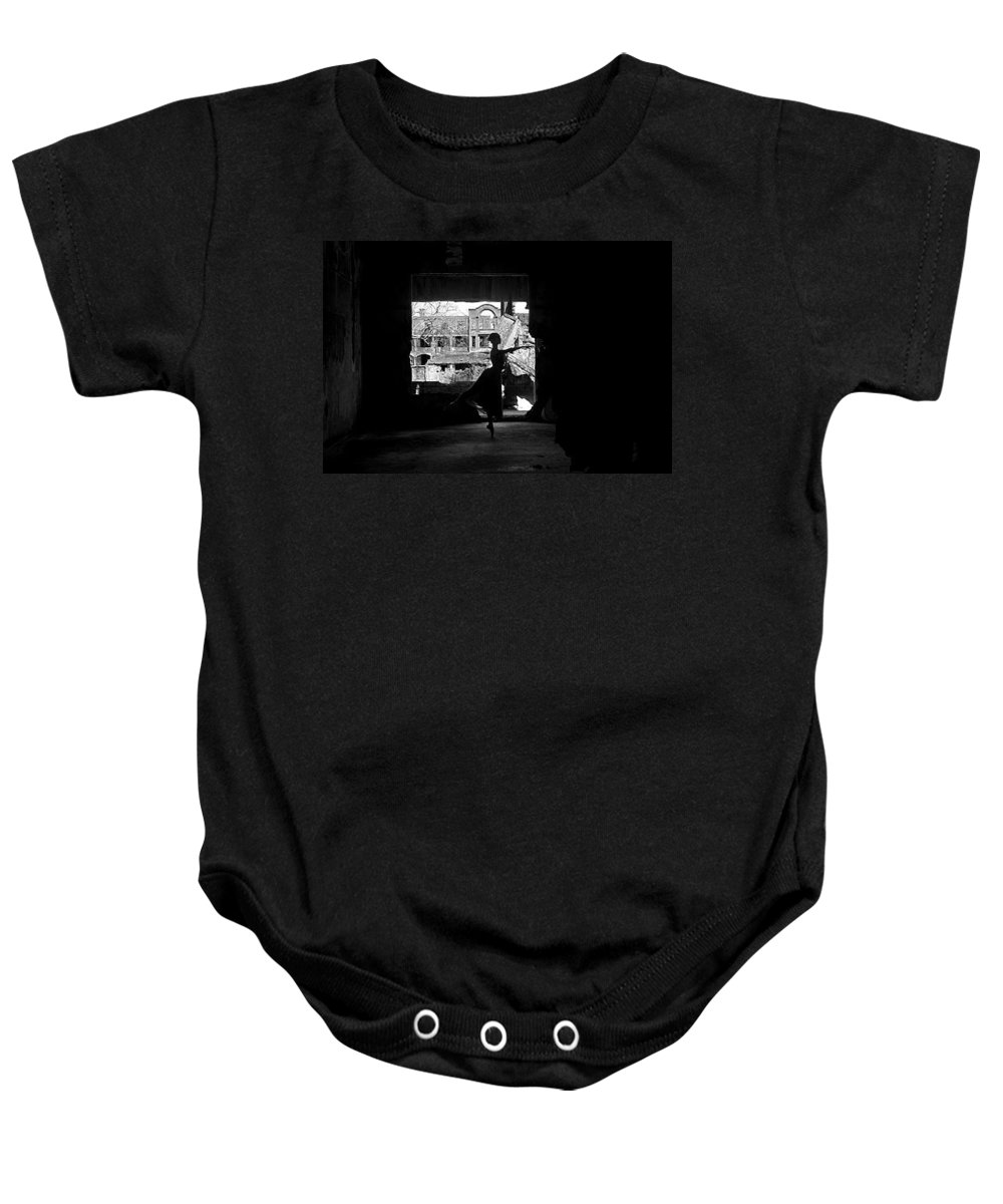 Ballet Dancer Baby Onesie featuring the photograph Ballet Dancer10 by George Cabig
