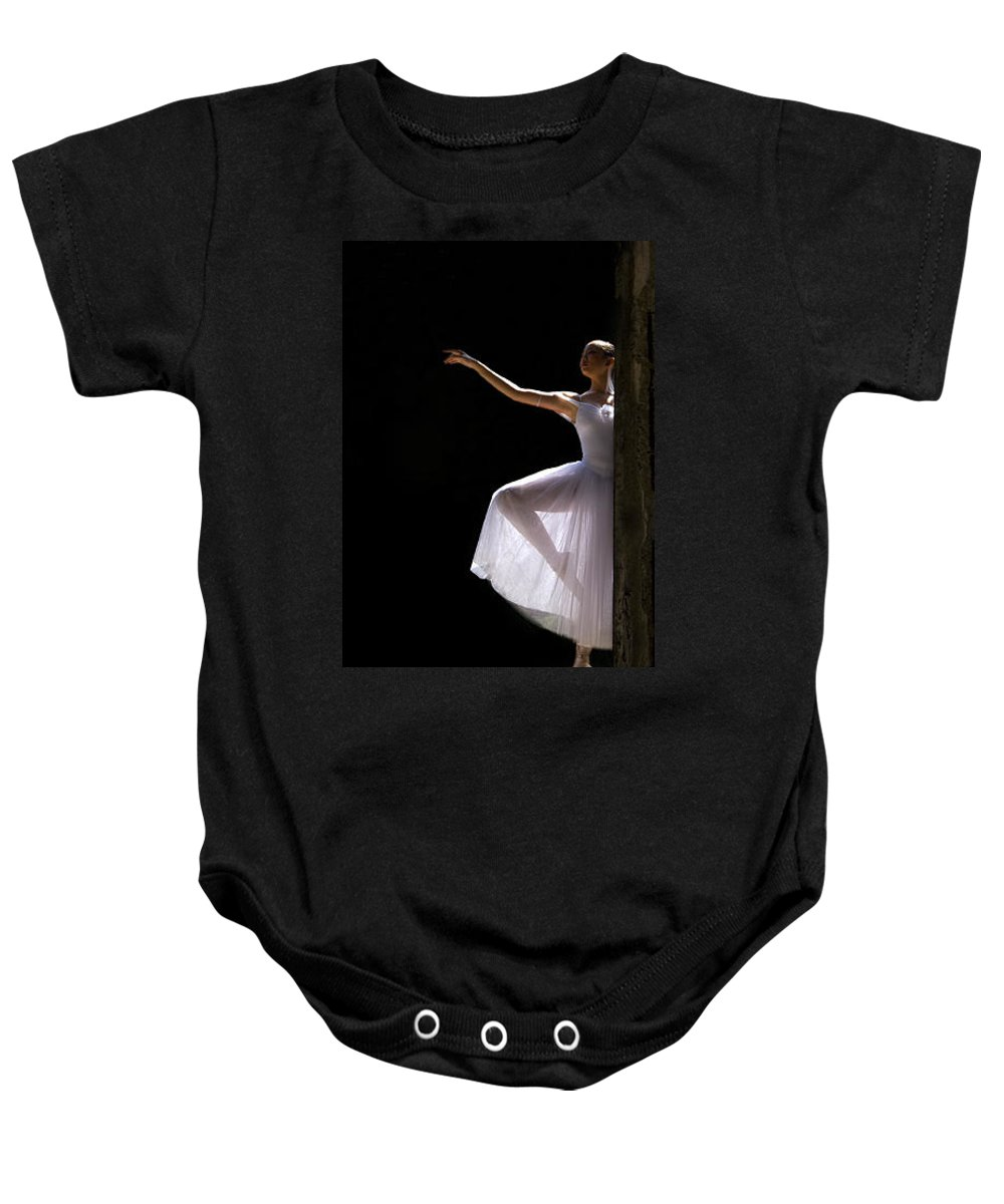 Ballet Dancer Baby Onesie featuring the photograph Ballet Dancer6 by George Cabig