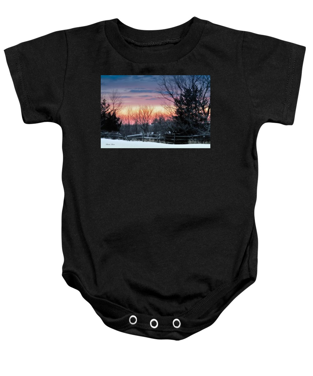 Victoria Baby Onesie featuring the photograph Ballet Of Light by Melinda Martin
