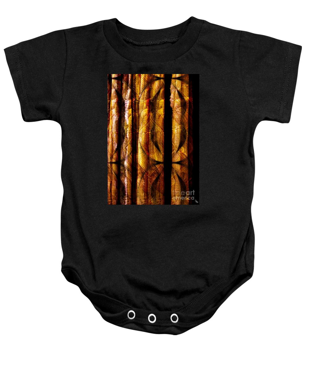 Bamboo Baby Onesie featuring the digital art Bamboo by Ron Bissett
