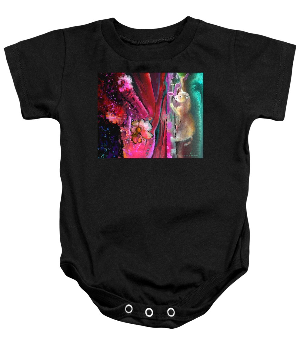 Dream Baby Onesie featuring the painting Bare With Me by Miki De Goodaboom
