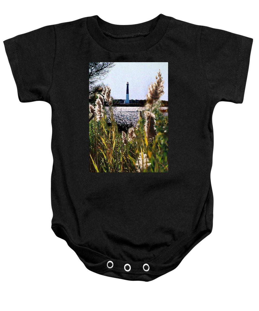 Barnegat Baby Onesie featuring the digital art Barnegat Bay by Steve Karol
