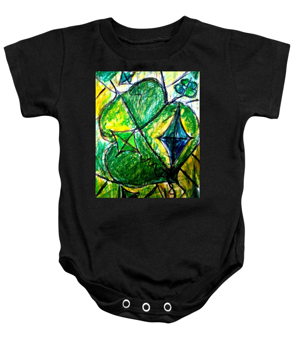 Painting Baby Onesie featuring the painting Basant by Fareeha Khawaja